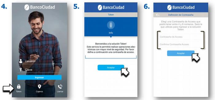 activar token por mobile banking banco ciudad