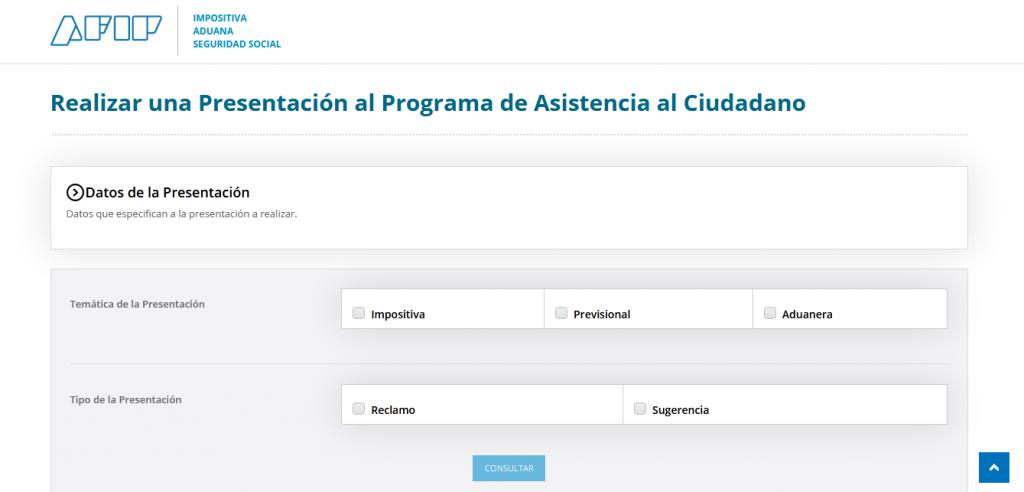 Realizar una presentación al Programa de Asistencia al Ciudadano