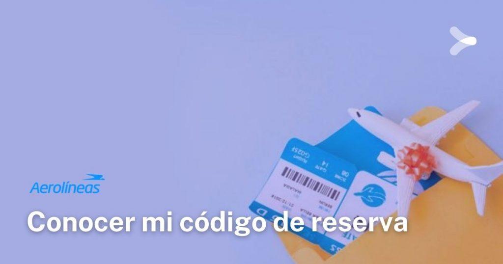 Aerolíneas Argentinas: conocer mi código de reserva