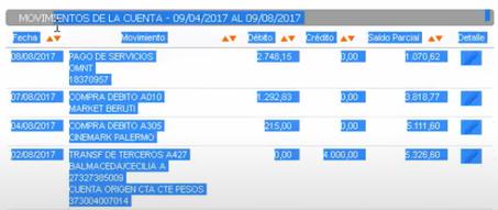 ver estado de cuenta banco galicia online