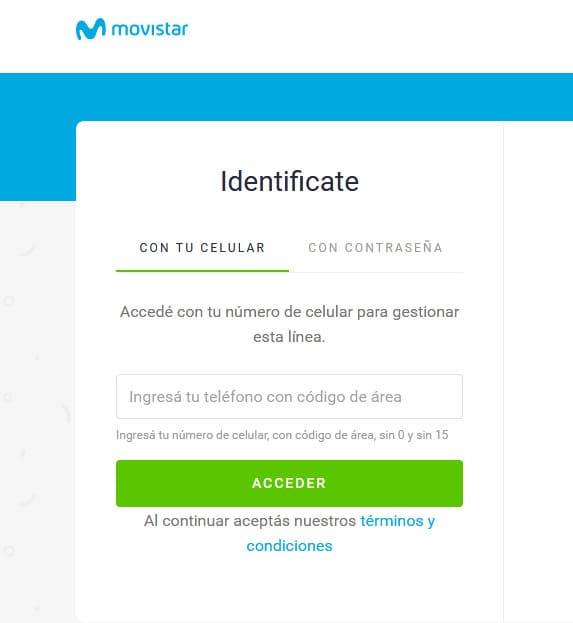 """Consultar saldo en Movistar desde app """"Mi Movistar"""""""