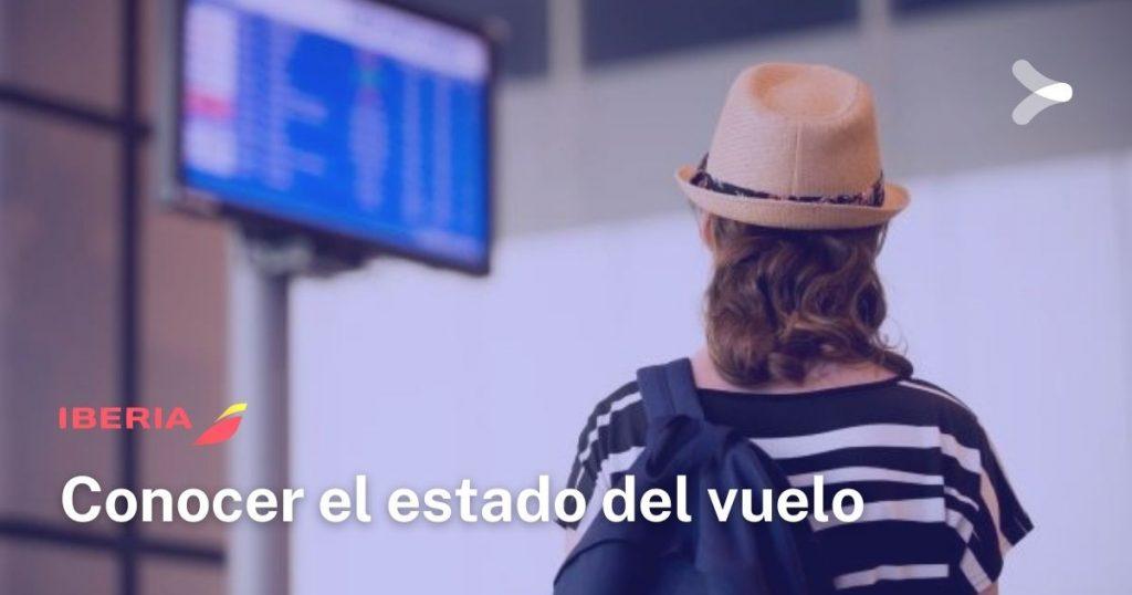 Iberia: conocer estado del vuelo
