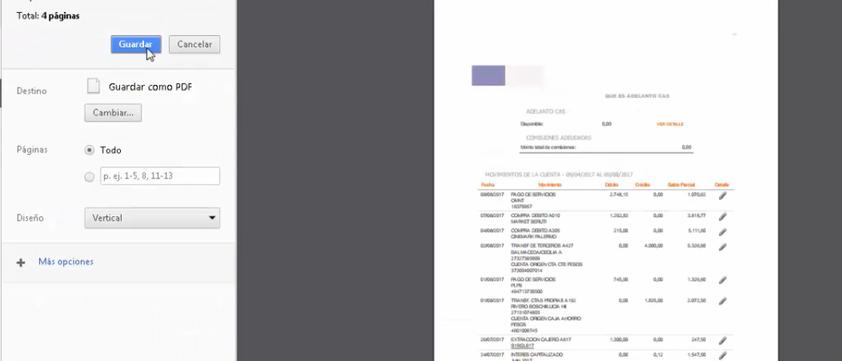 imprimir resumen de cuenta banco galicia online