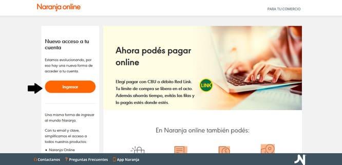 ingresar a naranja online