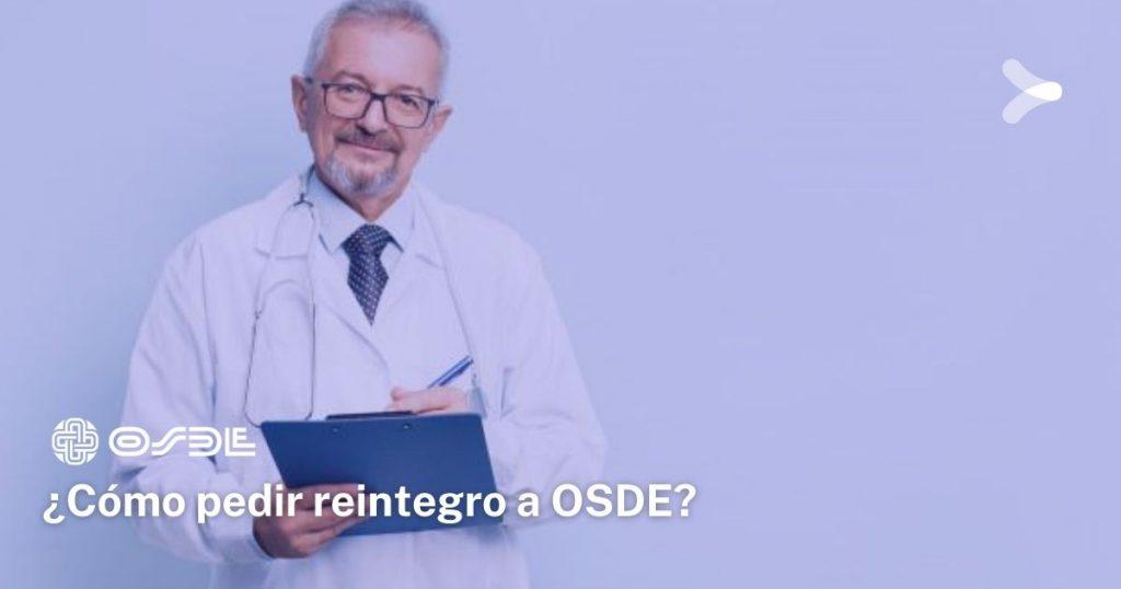 ¿Cómo gestionar reintegro de OSDE?