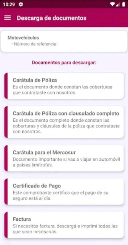 documentos para descargar SanCor Seguros