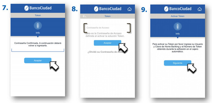 segundo paso para dar de alta el token por app mobile