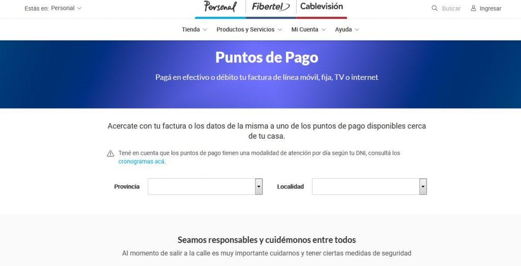 puntos de pago de Cablevisión