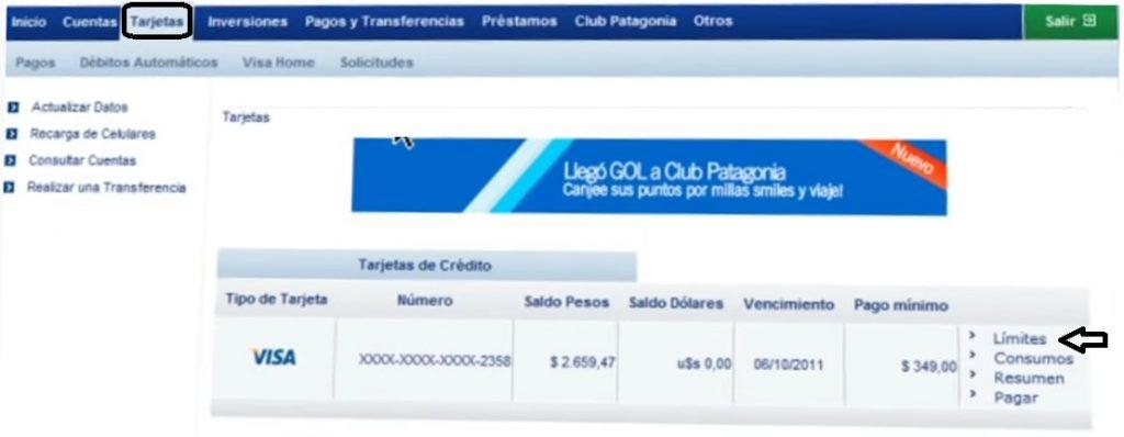 web de Banco Patagonia