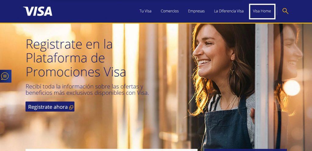 web de Visa Argentina