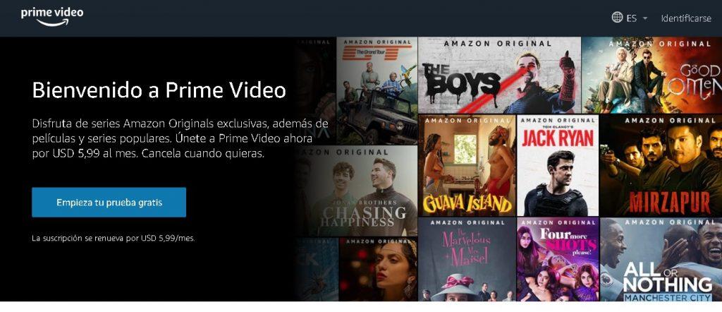 cómo contratar Amazon prime video en Argentina
