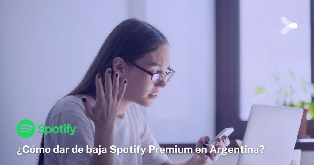 ¿Cómo cancelar la suscripción a Spotify Premium?